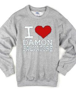 i love damon salvatore sweatshirt