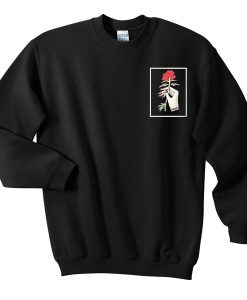 rose hand sweatshirt