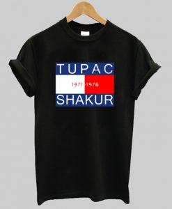 tupac 1971-1976 shakur t-shirt