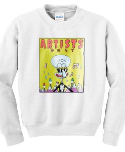 artists only squidward sweatshirt