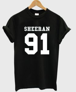 sheeran 91 t-shirt
