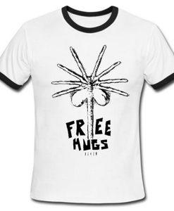 alien free hugs ringer tshirt