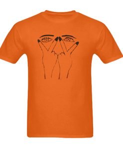 two eyes hand tshirt