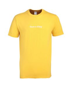 tuesday yellow tshirt