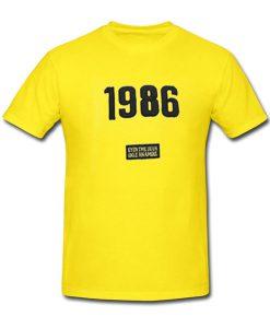 1986 yellow tshirt