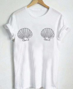 shell bra t-shirt