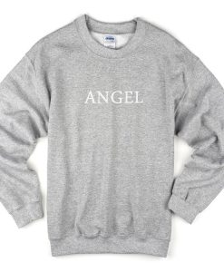angel font sweatshirt