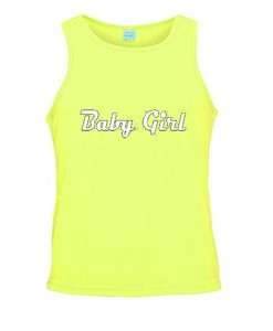 baby girl yellow tanktop