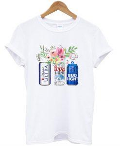 beer flower t-shirt