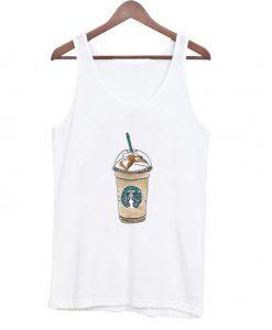 cartoon starbucks drink tank top