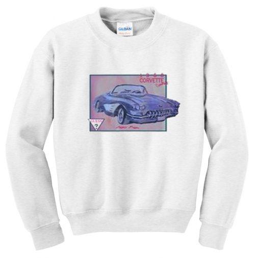 1960 corvertte convertible sweatshirt