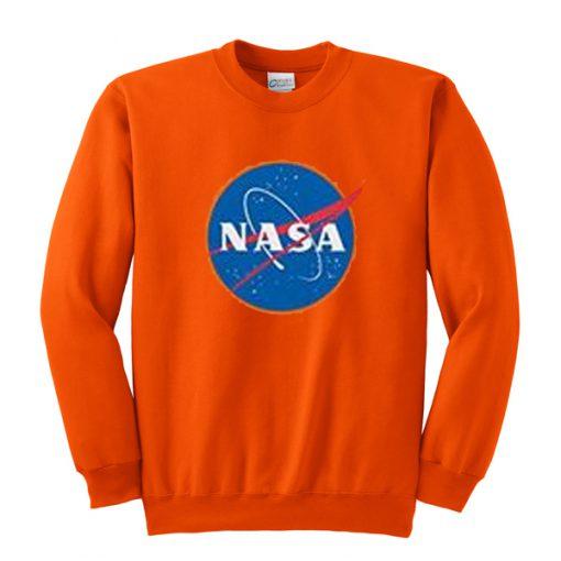 nasa orange sweatshirt