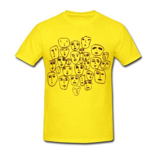 face sketch tshirt