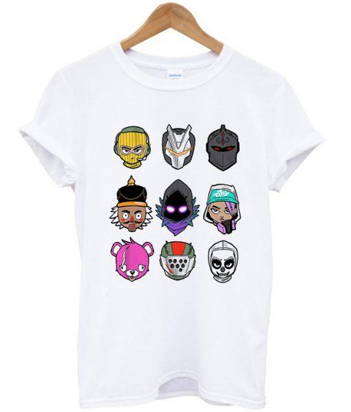 fortnite loot chibi head boys t-shirt