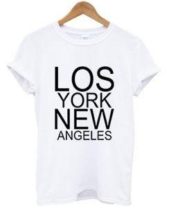 lost york new angeles t-shirt