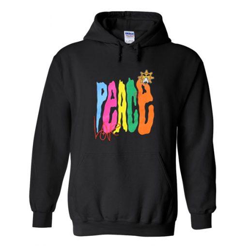 peace love hoodie