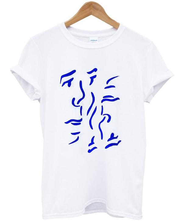 faces illustration t-shirt